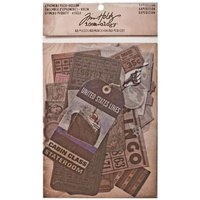 Idea-Ology Ephemera Pack Vellum Expedition by Tim Holtz