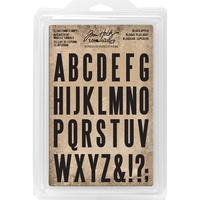 Idea-Ology Cling Foam Stamps Block Uppercase Alpha 31pc by Tim Holtz
