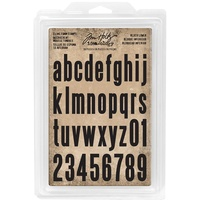 Idea-Ology Cling Foam Stamps Block Lowercase Alpha 36pc by Tim Holtz