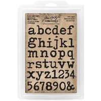 Idea-Ology Cling Foam Stamps Type Lowercase Alpha 37pc by Tim Holtz