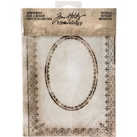 Idea-Ology Worn 2 Ring Binder Tattered Printed Fabric Cover by Tim Holtz