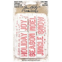 Idea-Ology Christmas Chipboard Quote Chips 60pc by Tim Holtz