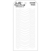 Stampers Anonymous Layered Stencil Chevron by Tim Holtz