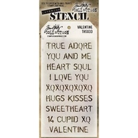 Stampers Anonymous Layered Stencil Valentine by Tim Holtz