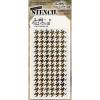 Stampers Anonymous Layered Stencil Houndstooth by Tim Holtz