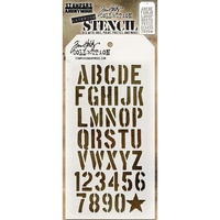 Stampers Anonymous Layered Stencil Crate by Tim Holtz