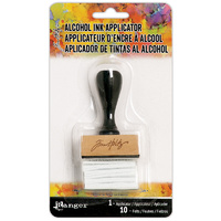 Ranger Alcohol Ink Applicator Stamp Handle with 10 Felts by Tim Holtz.