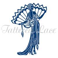 Tattered Lace Die Art Deco Pure Decadence Lady