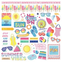 "PhotoPlay Paper Those Summer Days 12x12"" Element Stickers"