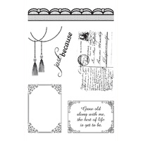 Ultimate Crafts Stamps Magnolia Lane Lace