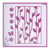 Ultimate Crafts Die Background Gallery 2 Floral Silhouettes