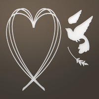 Ultimate Crafts Die Ooh La La Collection Of Hearts & Doves Set