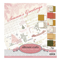 "Ultimate Crafts Paper Pad 12x12"" Seasons Greetings"