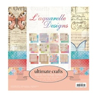 "Ultimate Crafts 12x12"" Paper Pad L'Aquarelle"