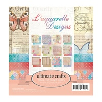 "Ultimate Crafts 6x6"" Paper Pad L'Aquarelle"