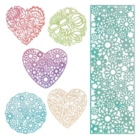 Ultimate Crafts Die Cut Shapes L'Aquarelle 6pc