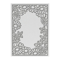 "Ultimate Crafts 5x7"" Embossing Folder L'Aquarelle Flowering Frame"