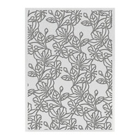 "Ultimate Crafts 5x7"" Embossing Folder L'Aquarelle Watercolour Blooms"