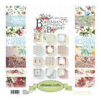 "Ultimate Crafts Bohemian Bouquet 12x12"" Double Sided Paper Pad 24pg"