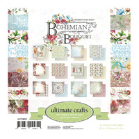 "Ultimate Crafts Bohemian Bouquet 6x6"" Double Sided Paper Pad 24pg"