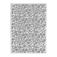 "Ultimate Crafts Bohemian Bouquet 5x7"" Embossing Folder Speckled Flowers"
