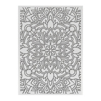 "Ultimate Crafts Bohemian Bouquet 5x7"" Embossing Folder Bohemian Bazaar"