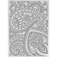 "Ultimate Crafts Bohemain Bouquet 5x7"" Embossing Folder Bohemian Damask"