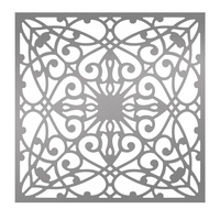 "Ultimate Crafts Bohemian Bouquet 6x6"" Stencil Flourished Background"