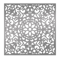 "Ultimate Crafts Bohemian Bouquet 6x6"" Stencil Bohemian Bazaar"