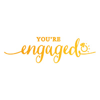 Ultimate Crafts Hotfoil Stamp Sweet Sentiments You're Engaged