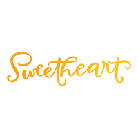 Ultimate Crafts Hotfoil Stamp Sweet Sentiments Sweetheart