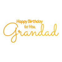 Ultimate Crafts Hotfoil Stamp Sweet Sentiments Grandad's Birthday