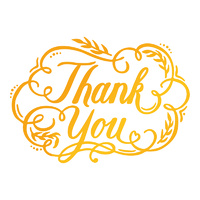 Ultimate Crafts Hotfoil Stamp Classic Sentiments Thank You