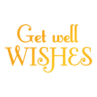 Ultimate Crafts Hotfoil Stamp Classic Sentiments Get Well Wishes