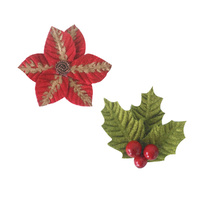 Ultimate Crafts It's Beginning to Look a Lot Like Christmas Poinsettia Flower Set 2pc