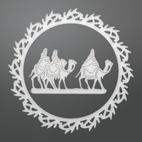 Ultimate Crafts It's Beginning to Look a Lot Like Christmas Die Wreathed Wise Men Layering