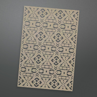 Ultimate Crafts Bohemian Bouquet Chipboard Fletching Background 1pc