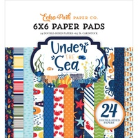 "Echo Park 6x6"" Double Sided Paper Pad 24pg Under the Sea"