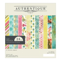 "Authentique 6x6"" Double Sided Cardstock Pad Utopia 24pg"