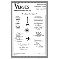Verses Cling Rubber Stamp Along the Way