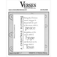 Verses Cling Rubber Stamp Christmas Blessing