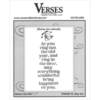 Verses Cling Rubber Stamp Ring Out