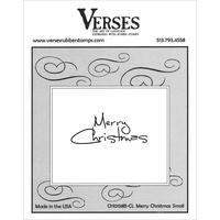 Verses Cling Rubber Stamp Small Merry Christmas
