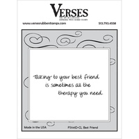 Verses Cling Rubber Stamp Best Friend