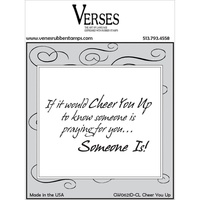 Verses Cling Rubber Stamp Cheer You Up