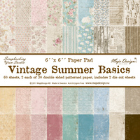 "Maja Design 6x6"" Heavyweight Paper Pad Vintage Summer Basics 60pc"
