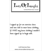 Lots Of Laughs Stamp by Verses Exercise Class