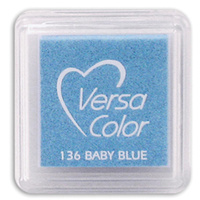 Tsukineko VersaColor Pigment Mini Ink Pad Baby Blue