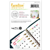 Waffle Flower Creative Monthly Planner Pages 12sets 24pg