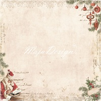 "Maja Design 12x12"" Double Sided Cardstock I Wish Santa Got My Letter"